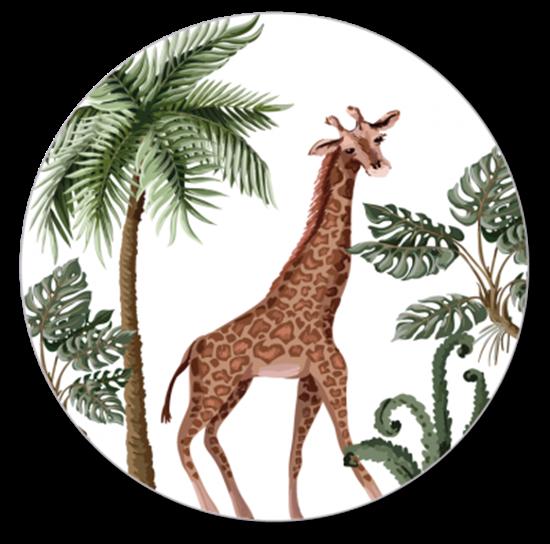 Afbeelding van Muurcirkel Giraf