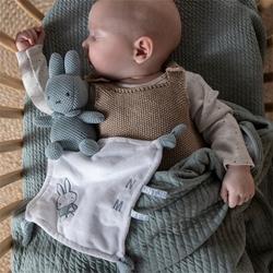 Afbeelding van Knuffeldoekje Nijntje Green Knit met Naam