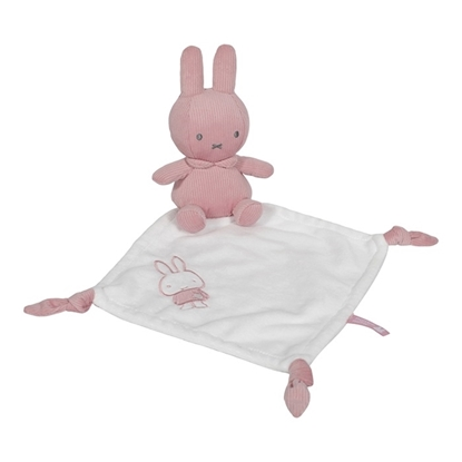 Afbeeldingen van Knuffeldoekje Nijntje Pink Baby Rib met Naam